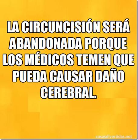 la circuncisión  pueda causar daño cerebral.