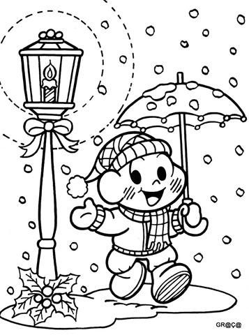 cascão no natal,turma da mônica no natal,desenhos para colorir mônica,cascão