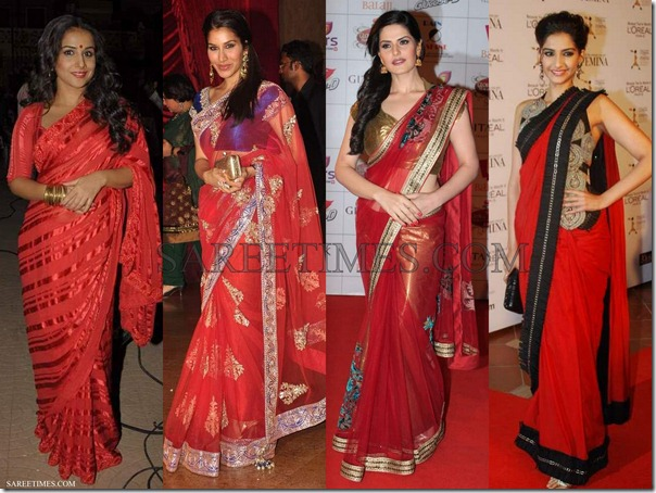 Bollywood_Red_Sarees_2012 (3)