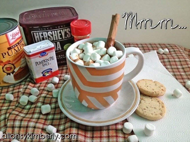 Pumpkin Spice Hot Chocolate | allonsykimberly.com