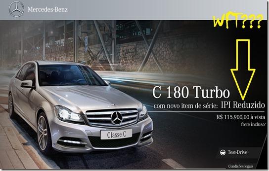 Mercedes com IPI reduzido