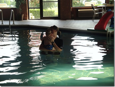 3.  Day 1 infant self rescue swim lessons