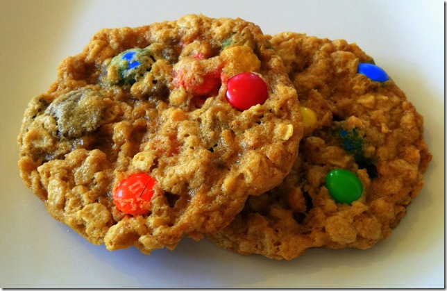 Ann Romney's M&M Cookies with PB and Oats