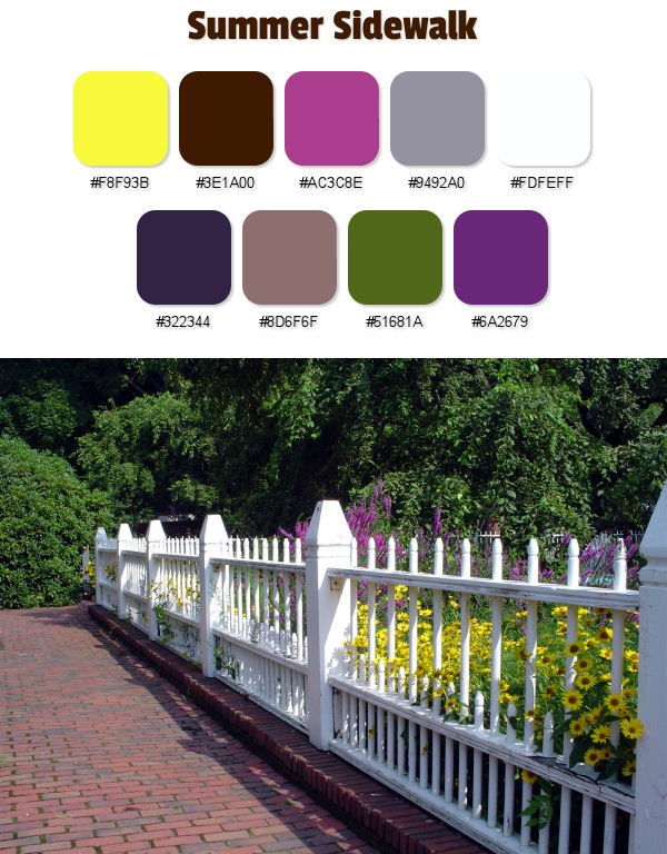 Summer Sidewalk Color Palette