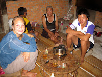 Dinner with the family - Sarah, Baht Yee, and Pong - Maetachang