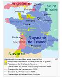 Mapa de fRANÇA 1356-1566
