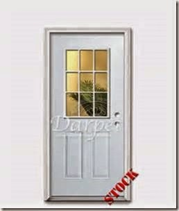 nine pane door