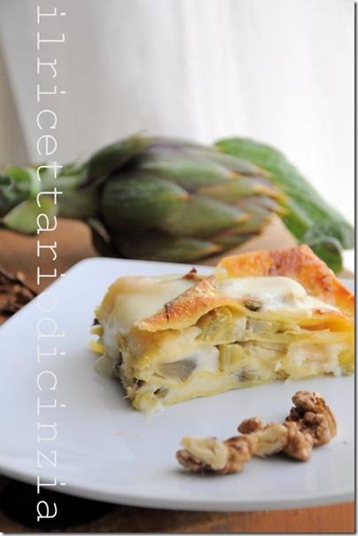 lasagne ai carciofi e Taleggio