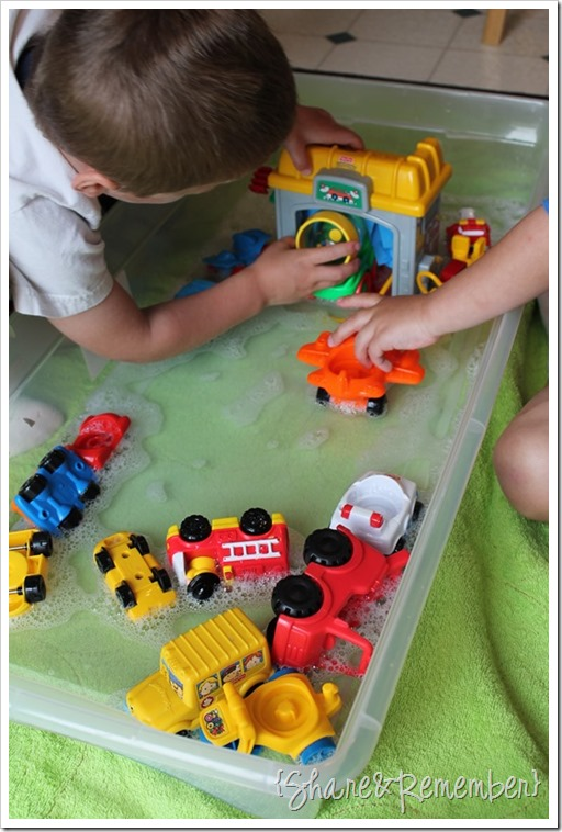 preschool sensory water play