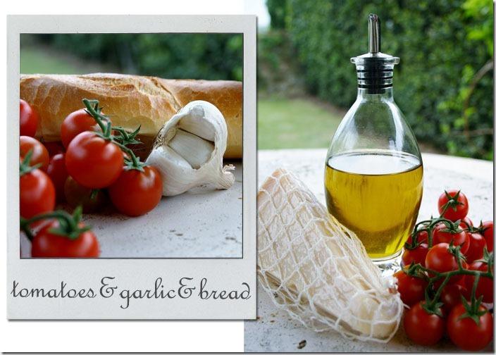 Tomatoes Garlic Bread Italy copy