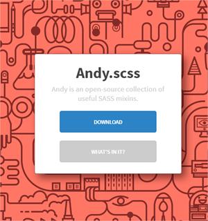 Andy.scss, colección de mixins para agilizar CSS
