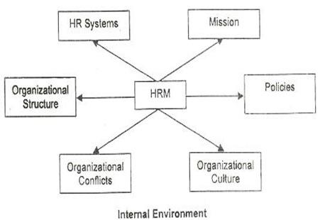 internal environment of hrm