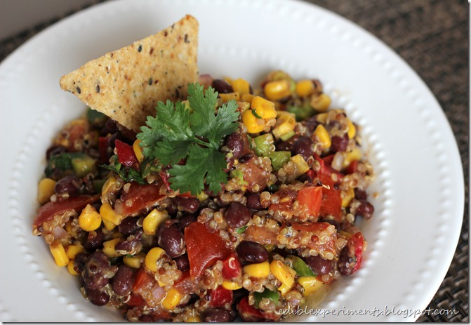 Black Bean and Corn Quinoa Salad