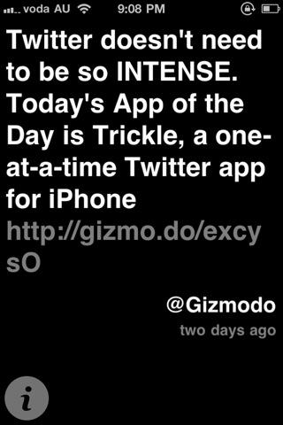 Trickle screen
