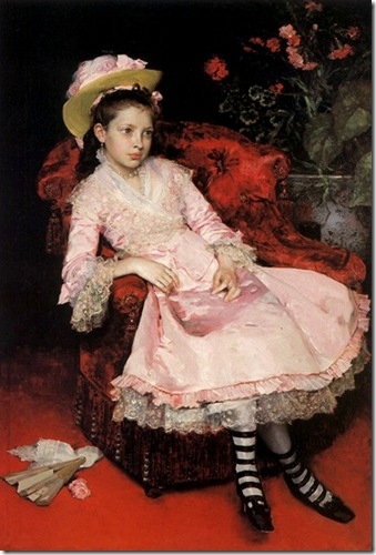 Raimundo de Madrazo y Garreta - Girl in pink dress