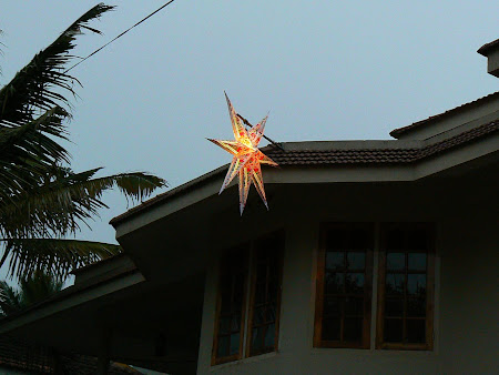 Christmas in India: a Christmas star in Kerala