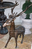 Bronze Deer Statue Pair