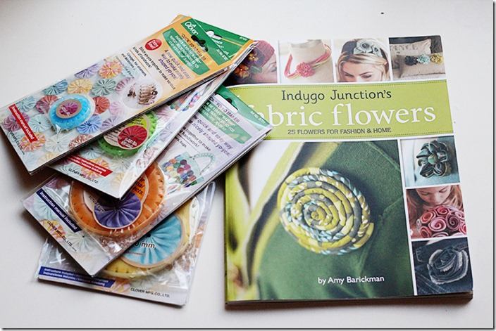 Fabric Flowers Book and Tools