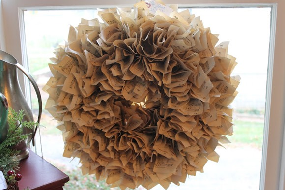 ruffled sheet music wreath
