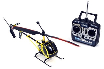 Remote-controlled helicopter toy