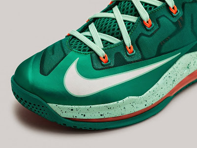 nike lebron 11 low gr biscayne 2 07 Nike LeBron 11 Low Biscayne   Different Shades of Green