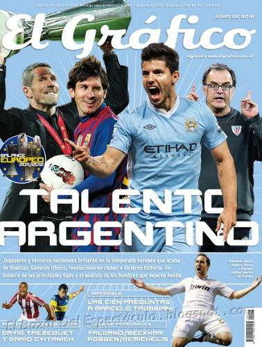 Revista el grafico junio 2012 ag ero messi simeone for Revistas del espectaculo