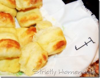 Homemade rolls with F