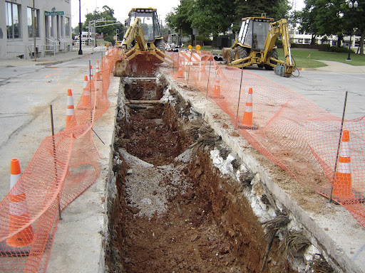This difficult repair of a water main on Jefferson Ave. should be complete by August 7th. (photo credit: Sam Senovich)