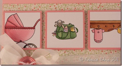 tara baby girl card closeup