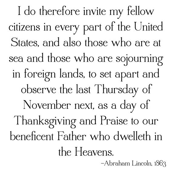 thanksgiving proclamation -- lincoln
