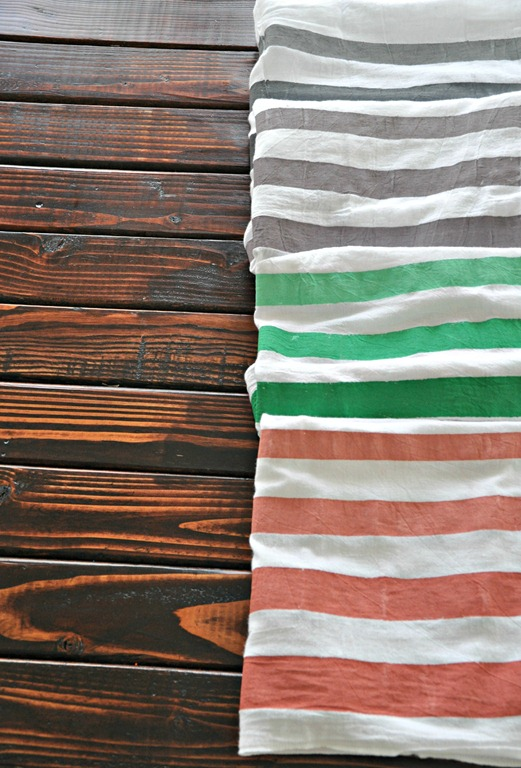 quick and easy crafts striped tea towels ombre