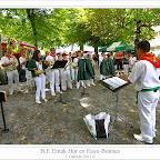 Batterie Fanfare Emak Hor, de Saint Pée Sur Nivelle, actuando en la fiesta de las flores, 14 de agosto 2011 en Eaux-Bonnes