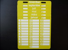 yellow perpetual calendar all