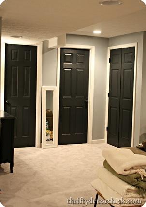 Elegant Black Interior Doors