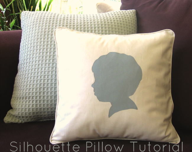 silhouette pillow image