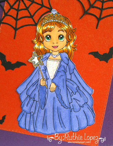 Inky Impressions - Princess Lili - Ruthie Lopez - Halloween Card 2