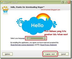 memulai instalasi software skype