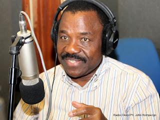 Henri-Thomas Lokondo, président de l'Union Congolaise pour la Liberté(UCL), au studio de Radio Okapi. Photo John Bompengo