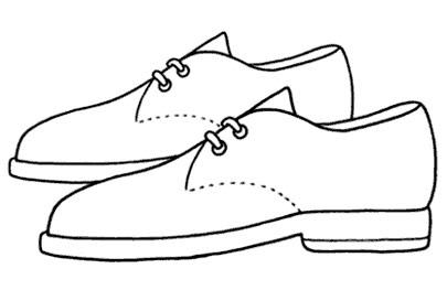 Zapatos de hombre para colorear - Imagui