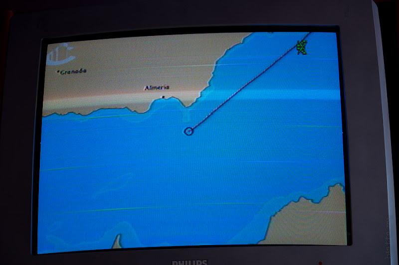 Первый день в круизе на Costa Concordia. Информационный канал в каюте. Укрупнённый масштаб карты.
