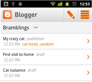 Blogger for Android App
