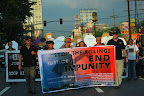Journalists and supporters march along Espana in Manila marking the third anniversary of the Ampatuan Massacre, Nov. 23. (Photo by Ronalyn V. Olea/ Bulatlat.com)