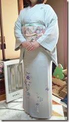 素敵なプルーの着物 (2)