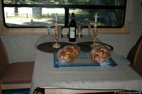 Dining table ready for Shabbat