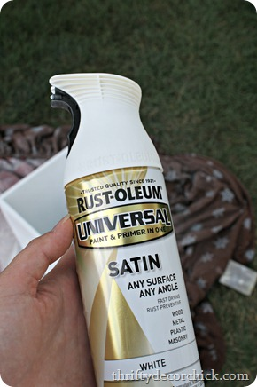 satin white spray paint