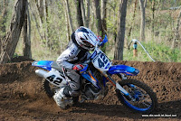 Michael on his Yamaha 250F MX bike