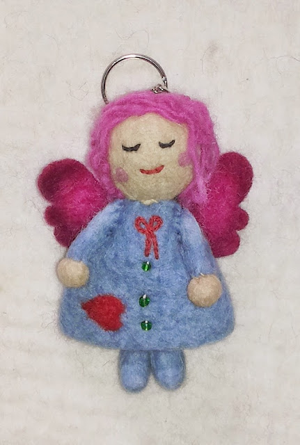 angel doll keyring