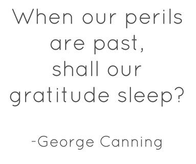 gratitude  george canning