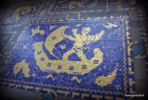 14karat gold floor tiles