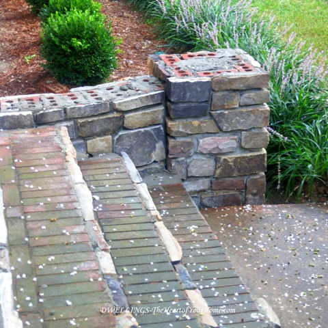 curved stone wing walls